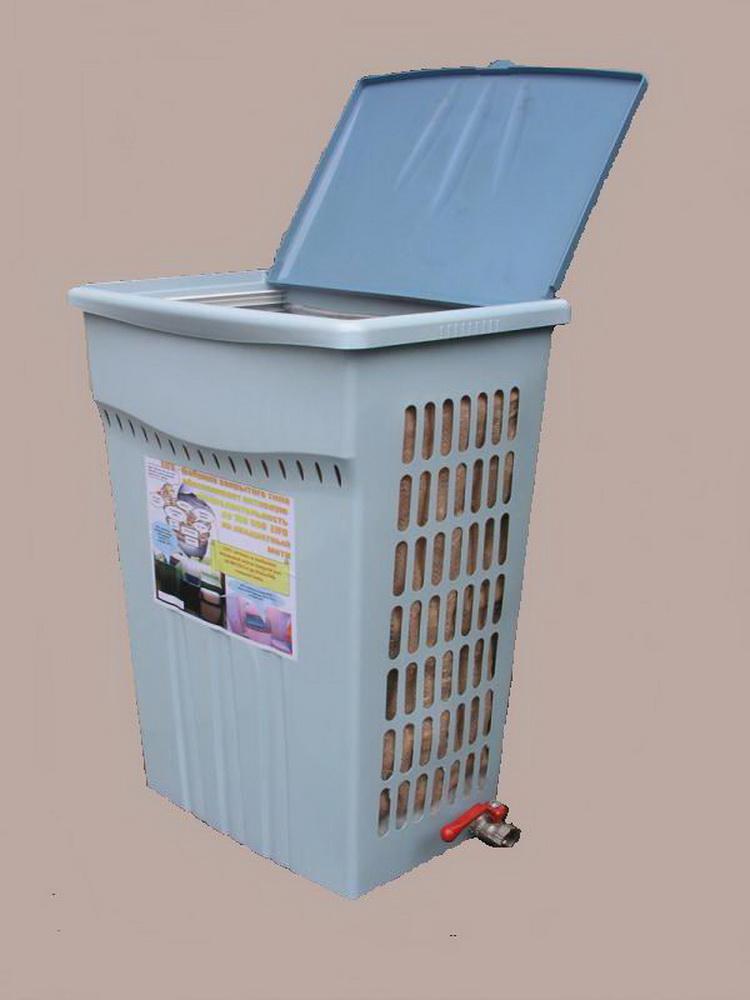 Одна из первых СВФ в корпусе промышленного пластмассового 30-литрового мусорного ведра